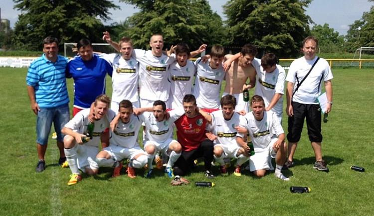 Fotbaloví dorostenci z Budějcka jsou krajskými přeborníky