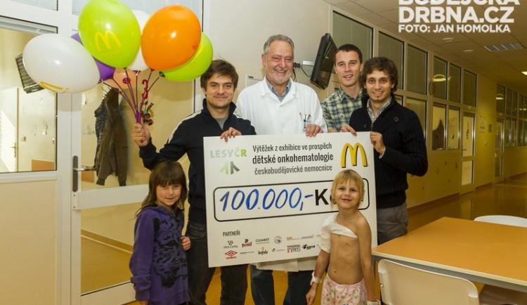 Jiří Mádl předal dětskému oddělení 100 tisíc korun