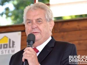 Jižní Čechy očekávají návštěvu prezidenta Miloše Zemana