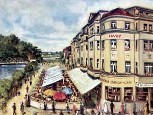 Alkohol vmalých dávkách je neškodný vjakémkoliv množství, řekl Miloš Kopecký v kavárně Savoy