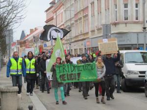 V Táboře se demonstrovalo proti migraci a pochodovalo proti xenofobii