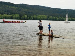 Dračí lodě zahájily již podeváté letní turistickou sezonu na Lipně