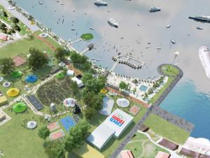 Lipno se připravuje na olympijský park, staví sportoviště