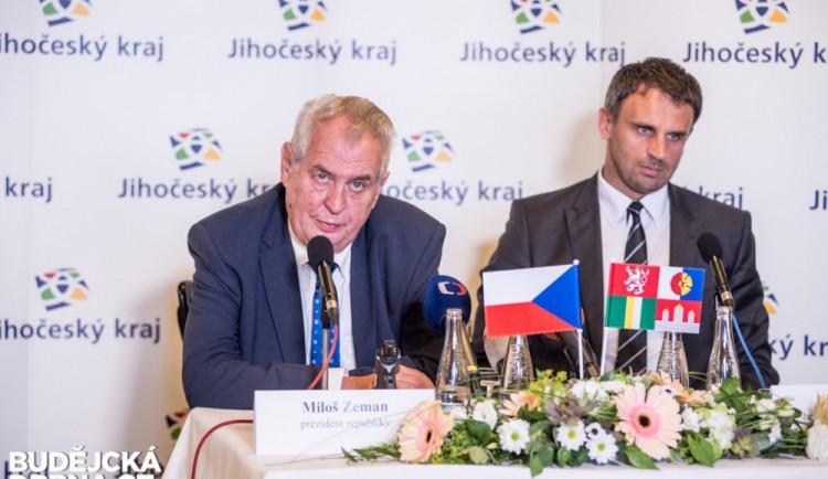 VOLBY 2016: Hejtman Zimola mluvil v úterý s prezidentem o koalici v jižních Čechách