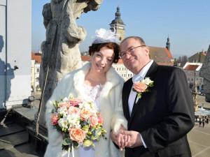 Svátek zamilovaných přilákal na budějckou radnici jen jeden pár