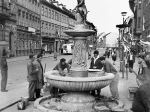 DRBNA HISTORIČKA: Budějce mělyna začátku dvacátého století celkem sedmnáct kašen