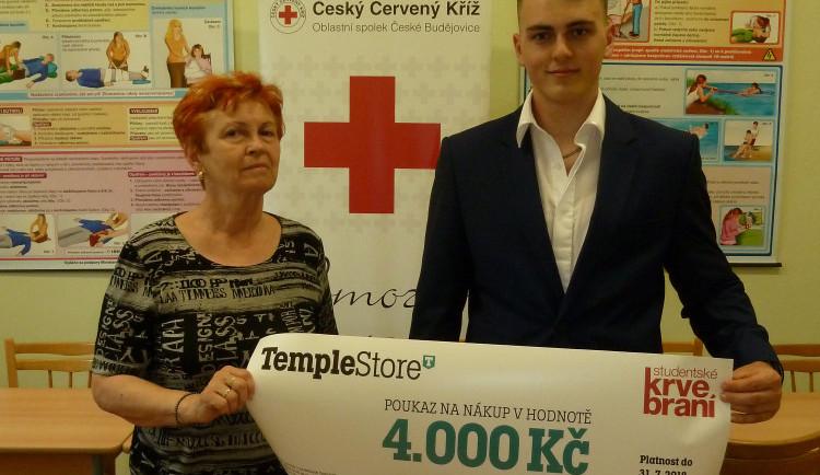 Díky Studentskému krvebraní letos v Budějcích přibylo 277 nových dárců krve