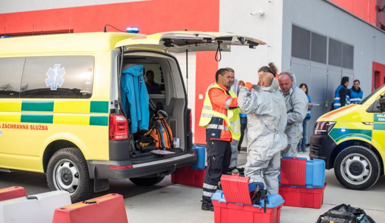 FOTO/ VIDEO: Na výskyt vysoce nakažlivé nemoci je integrovaný záchranný systém připraven