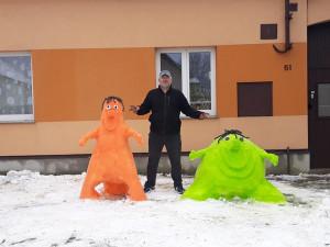 FOTO: Když Jihočeši staví sněhuláky. Fantazii se meze nekladou