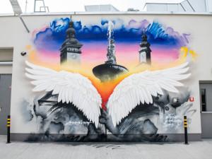 Další krásná malba v Budějcích. Tentokrát se vyznamenal umělec Erko.art