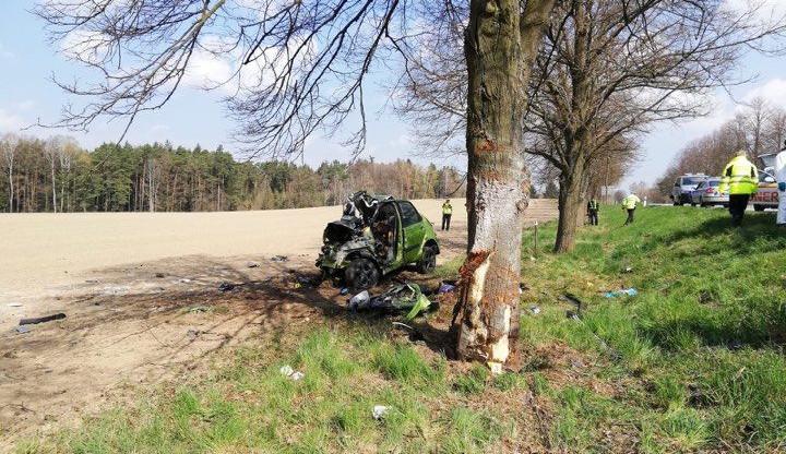 VIDEO: Auto na Táborsku narazilo do stromu a začalo hořet. Řidič na místě zemřel