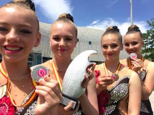 Budějcké gymnastky přivezly stříbro ze světového šampionátu