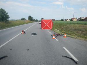 Na Písecku zemřel nezletilý cyklista. Nedal přednost autu