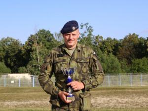 Strakonický voják si na soutěži v Rakousku vystřílel čtvrté místo