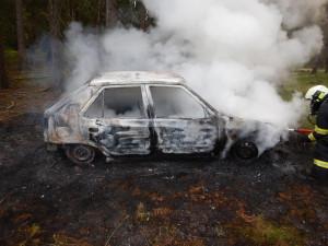 Houbař šel do lesa, mezitím mu shořelo auto