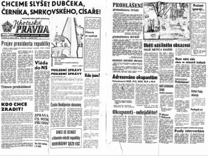 FOTO: Okupanti u viaduktu mířili na lidi samopaly, psala před jedenapadesáti lety Jihočeská Pravda