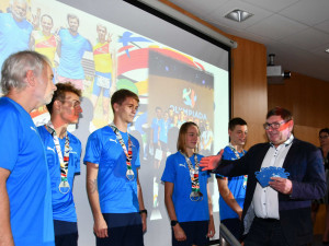 Náměstci hejtmanky poblahopřáli jihočeským sportovcům za devátou letní olympiádu dětí a mládeže