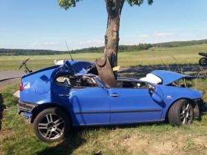 Jednadvacetiletý mladík narazil na Písecku autem do stromu. Na místě zemřel