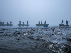 FOTO: Rybáři z Hluboké po roční pauze vylovili rybník Bezdrev