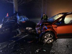 VIDEO: U Ledenic se stala tragická dopravní nehoda, řidič osobáku zemřel