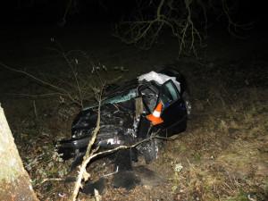 Při tragické dopravní nehodě na Českokrumlovsku zemřel řidič osobáku