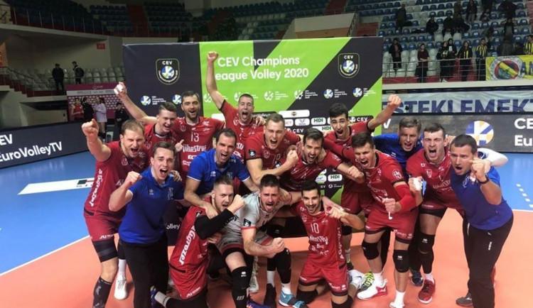 Jihostroj má první vítězství v Lize mistrů proti Fenerbahce Istanbul