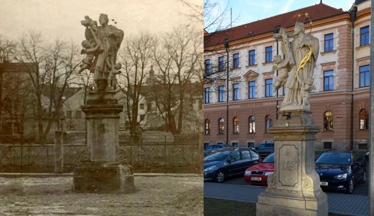 České Budějovice objektivem Milanem Binderem a perem Martina Maršíka: Otočená socha