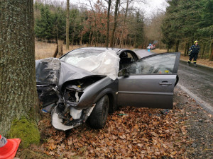 Na Písecku se stala tragická dopravní nehoda, po nárazu do stromu zemřela starší žena