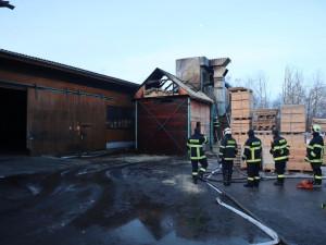 Požár briketárny v Protivíně způsobil škodu za půl milionu korun