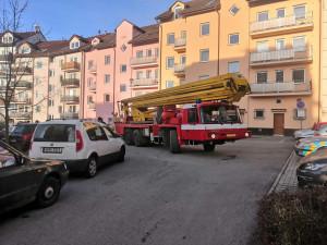 Policisté a hasiči testovali průjezdnost ulic pro záchranné složky