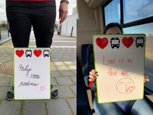 Valentýnské jízdy: podívejte se, jaké vzkazy posílali cestující nejčastěji