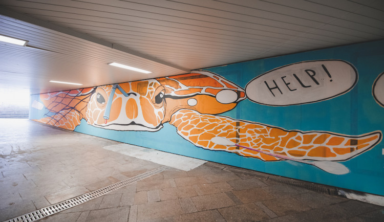 Podchod u nádraží oživily graffiti. Je to jen začátek, věří z Budějovického Majálesu