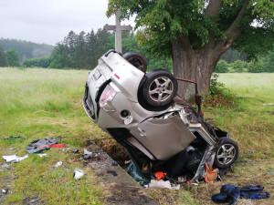 Na Táborsku se stala tragická dopravní nehoda, na místě zemřel starší řidič
