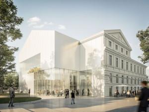 Vizualizace nové Slavie je hotová. Budova se rozšíří směrem k muzeu i řece