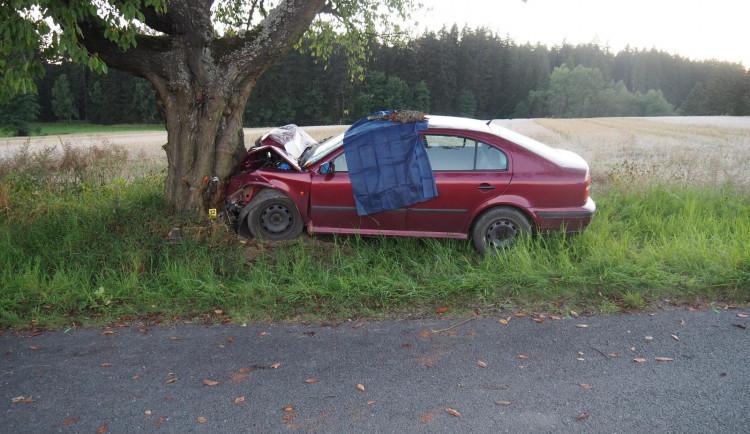 Senior narazil na Táborsku do stromu. Nehodu nepřežil