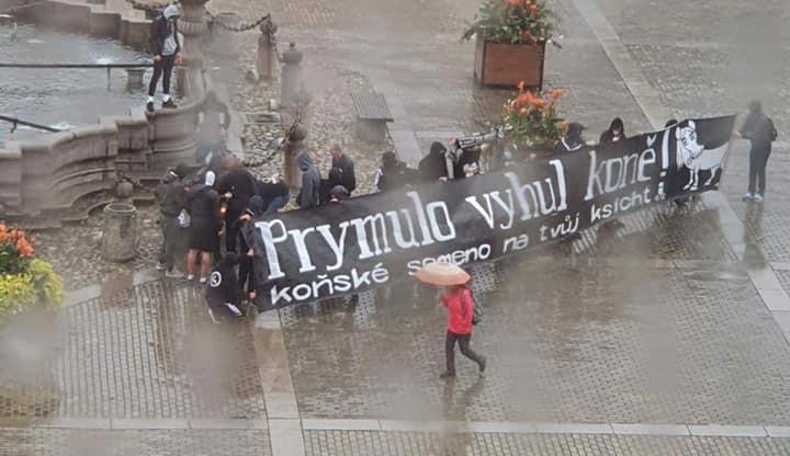 FOTO, VIDEO: Prymulo vyhul koně. Fanoušci Dynama protestovali proti vládním opatřením