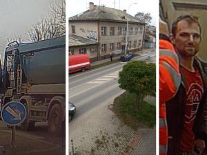 Policisté hledají muže ze snímku. Mohl by pomoci s rozluštěním nehody v Dobrovodské ulici
