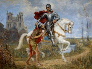 Svatý Martin žil skromný život, nejezdil na bílém koni a možná se skrýval mezi husami