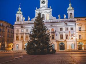 VIDEO: Na náměstí stojí vánoční strom. Slavnostní rozsvícení proběhne letos online