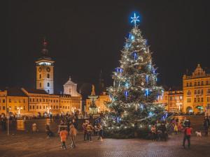 Vánoční strom už rozsvítily i Budějce. Adventní program bude online