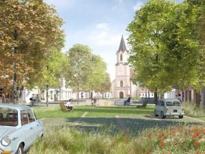 Na nové podobě náměstí ve Veselí pracovali tři architekti