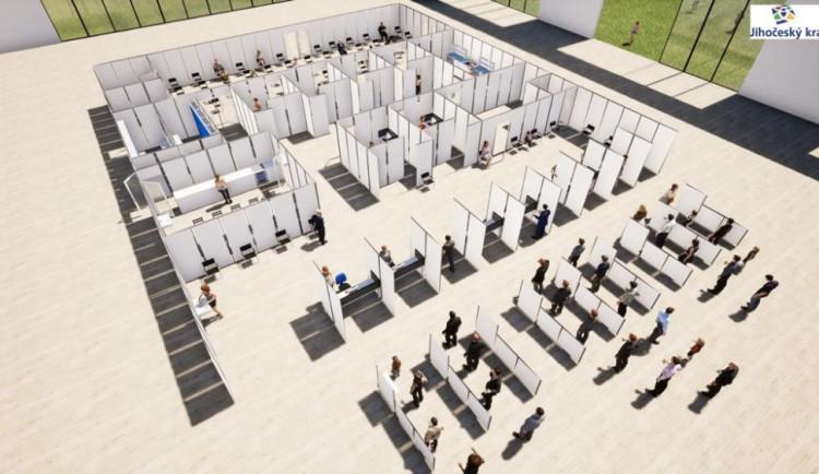 Stavba vakcinačního centra v Budějcích by mohla začít už zítra