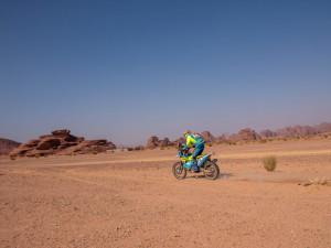 Budějčák Michek je po maratonské etapě na Dakaru průběžně patnáctý a nedělá chyby