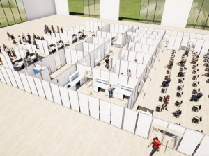 Vakcinační centrum v Budějcích zahájí zkušební provoz