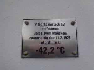 Rekordní mráz v Česku nebyl překonán už 92 let. Amatérský meteorolog tehdy naměřil 42 stupňů pod nulou