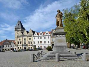 Tábor chce zrestaurovat sochu Jana Žižky na náměstí. Pomník zahalí lešení začátkem dubna