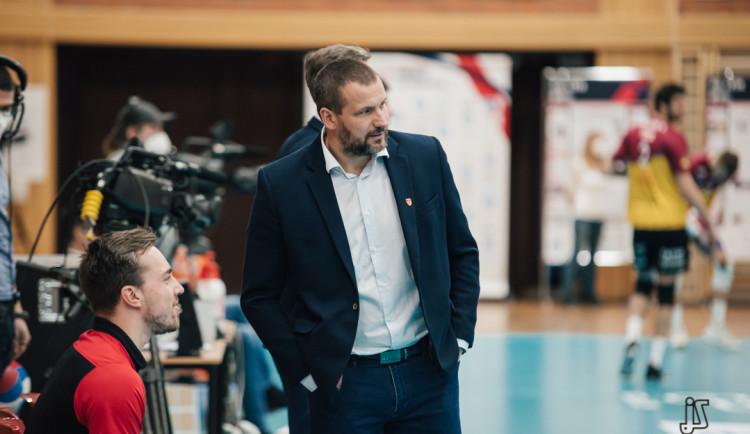 Finále Jihostroje s Karlovarskem nabídne špičkový volejbal. Musíme vyhrát v hale soupeře, ví Skolka