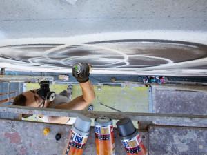 Letošní téma Umění ve městě je City. Na sportovní hale vzniknou dvě malby