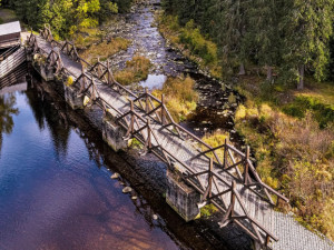 Unikátní hradlový most Rechle u Modravy čeká rekonstrukce, uzavírá se pro turisty od 1. července