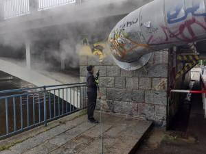 Most v Budějcích ozdobí malba Kubišové a Rodena